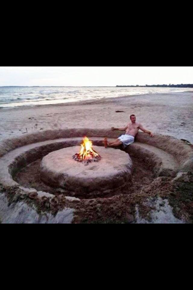 Sand Fire Pit Backyard : Sand Fire pitlounge  ALL OUTDOOR SPACES  Pinterest