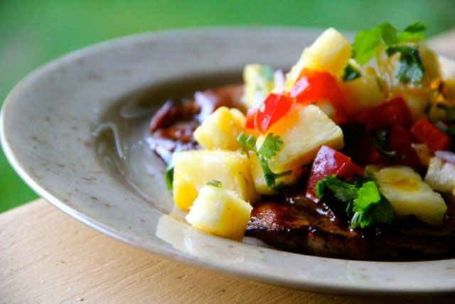 Pork Chops with Pineapple Salsa | Recipe