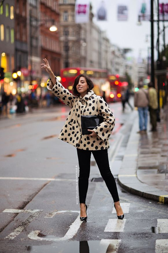 London Fashion Week 2014 Street Style - great coat!