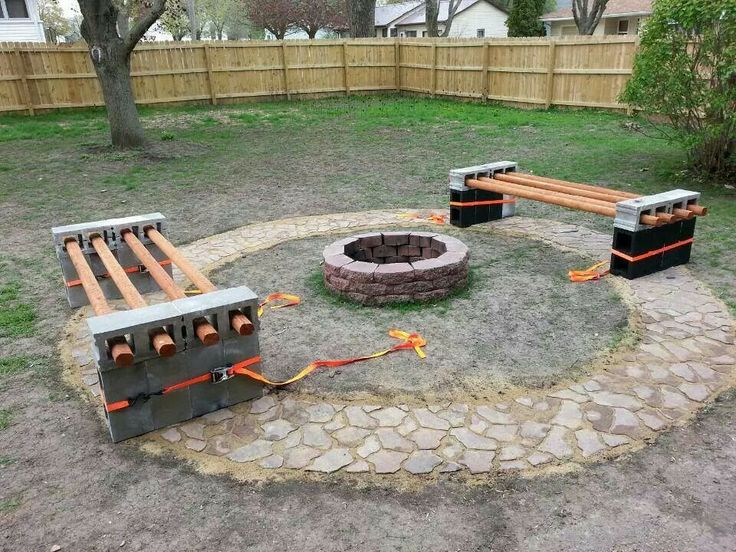 Homemade Bench And Fire Pit Things I Love Pinterest