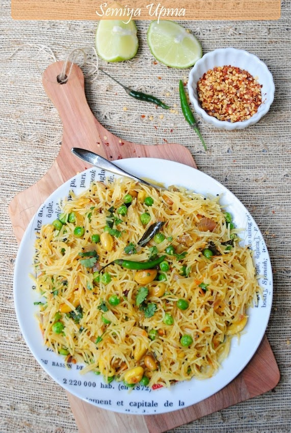 US Masala: Semiya Pulao/Indian Style Stir Fried Noodles