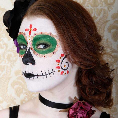 pretty sugar skull sugar skull makeup pinterest