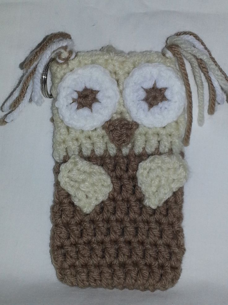 Owl $6 shipping included : crochet cell phone case : Pinterest