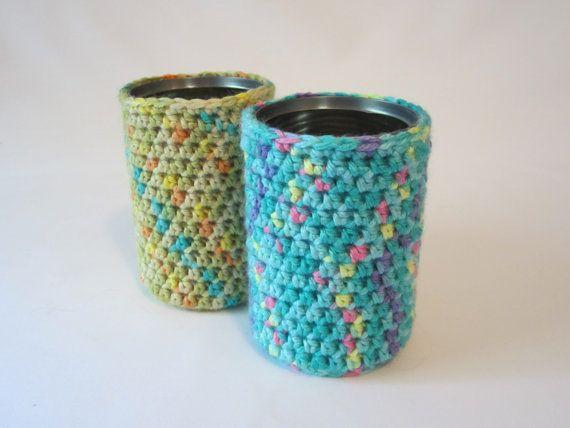 Pencil Holder, Can Cozy, Crochet Cozy, Desk Accessory, Utensil Holder ...