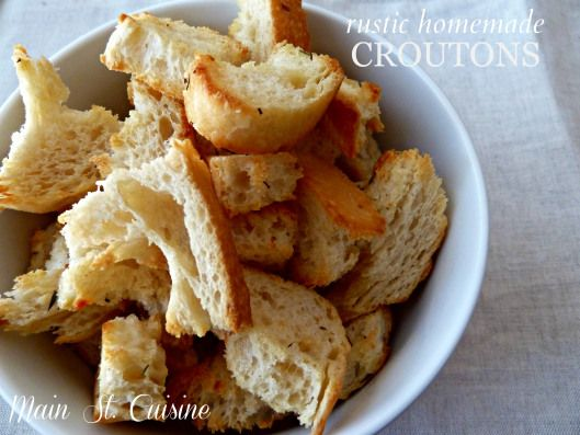 how to make homemade croutons | Food.To.Make. | Pinterest