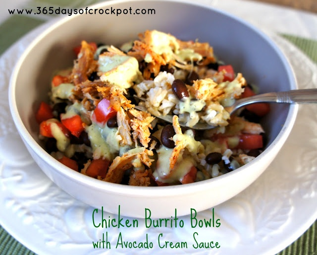 365 Days of Slow Cooking: Recipe for Slow Cooker Chicken Burrito Bowls ...