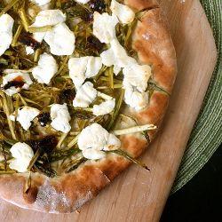 Goat Cheese Pizza www.brannyboilsover.com Shaved asparagus pizza ...