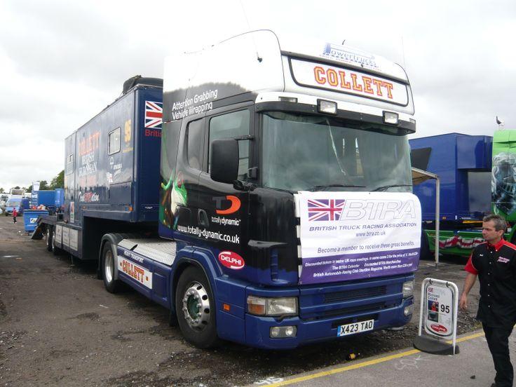 Scania 4 series Collett Truck racing - Thruxton 2008Cool Race Trucks