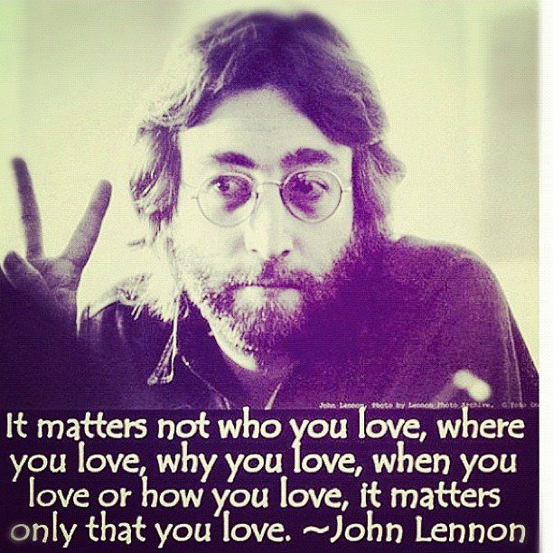 John Lennon quote on Love. Quotes, Simple Truths & Lessons in ...