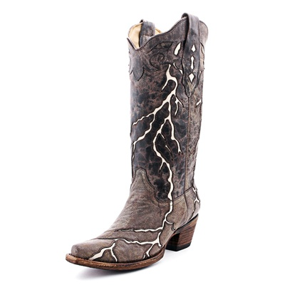 corral brown lightning boots bohemian