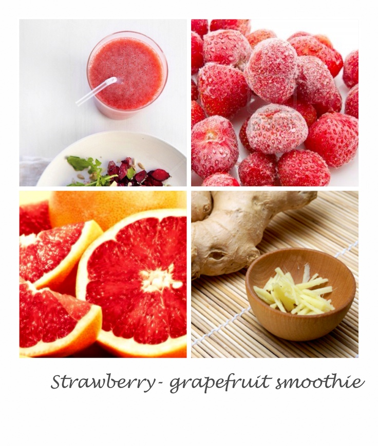 Strawberry - grapefruit smoothie 1 grapefruit, peeled, seeded, and ...