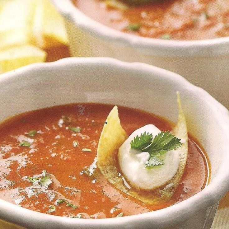 Tomato Chipotle Soup Cuisine at home | Recipes to try | Pinterest