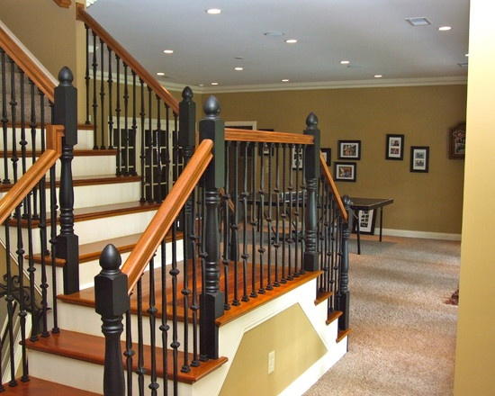 basement stairs two direction landing for the home pinterest