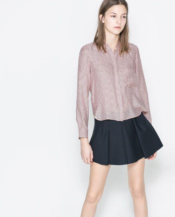 Zara Star Print Blouse 19