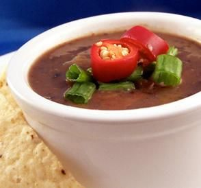 Intense Black Bean Soup: Perfect for a fiesta, this soup is full of ...