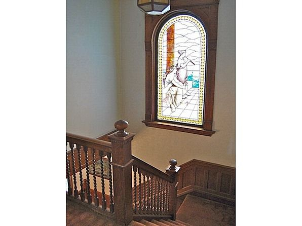 1896 Queen Anne, Mansfield, OH (George F. Barber)-- A stain glass ...
