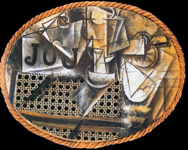1912 picasso nature morte 224 la chaise cann 233 e still in the caned chair hst cir 233 e sur toile
