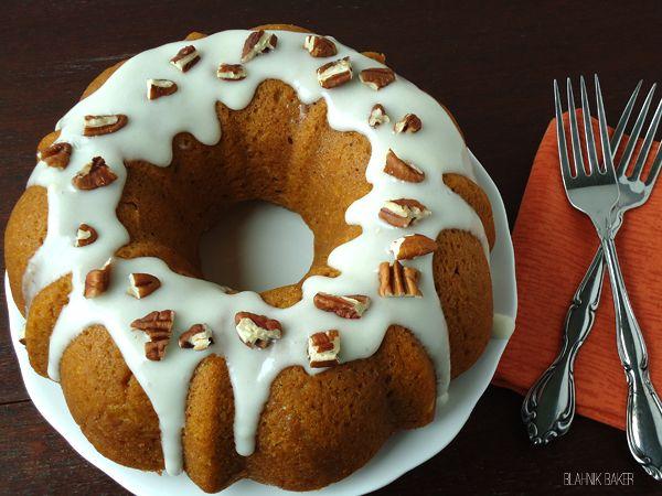 Pumpkin Bundt Cake with Bourbon Cream Cheese Frosting | Recipe