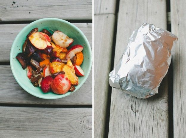 Fire Roasted Stone fruit with Cardamom and Dates