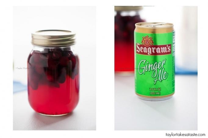 vodka infused cranberry + ginger ale cocktail
