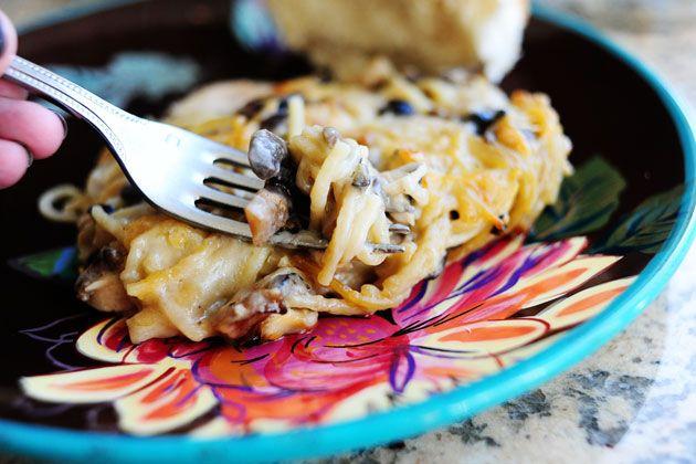 Creamy Chicken Spaghetti Casserole | Recipe