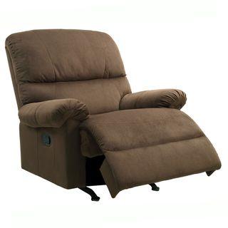 Nolan earth brown fabric nursery rocker recliner chair overstock com