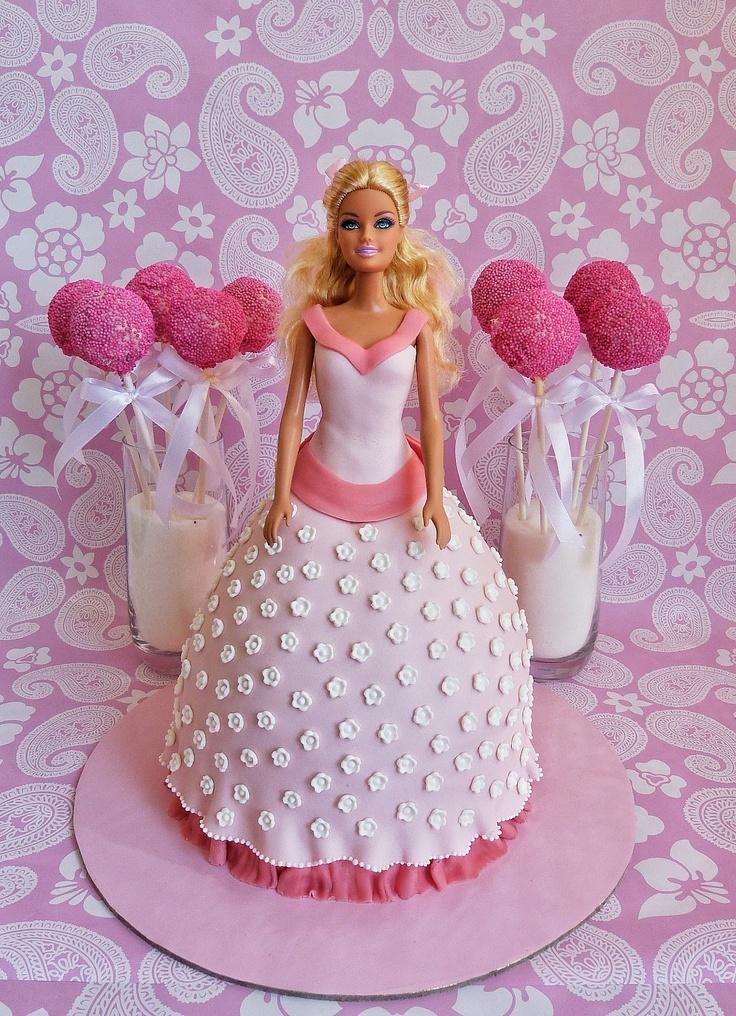 Barbie Fondant Cake Images : Barbie doll cake Fondant Cake Pinterest