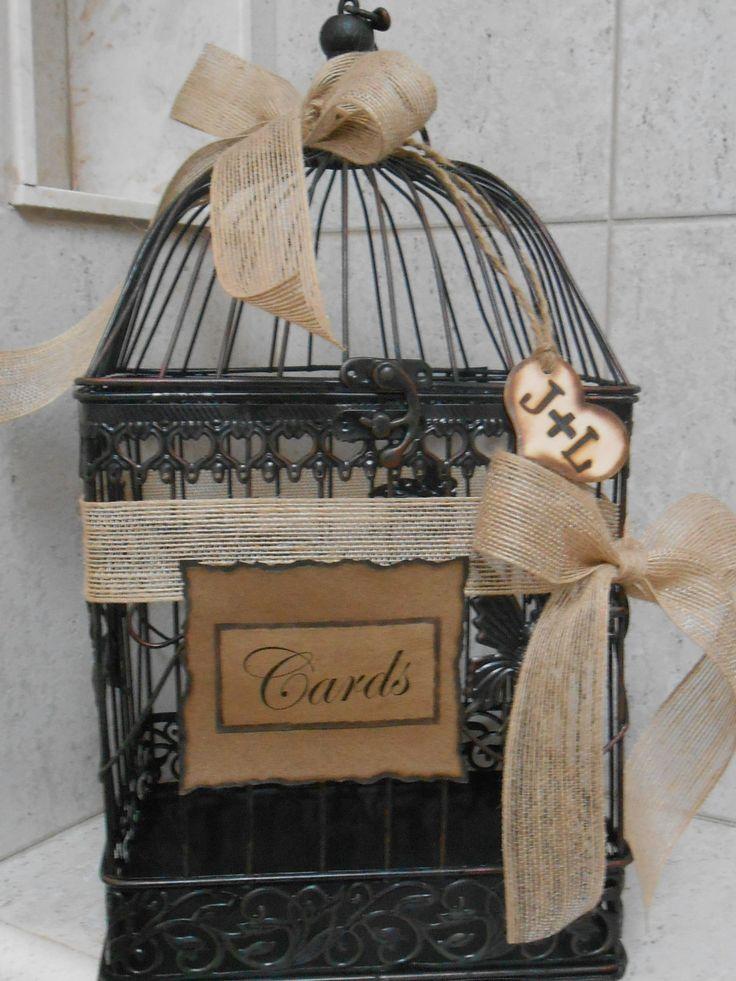 Wedding Gift Card Cage : Cage Wedding Card Holder / Rustic Wedding Birdcage Cardholder / Card ...