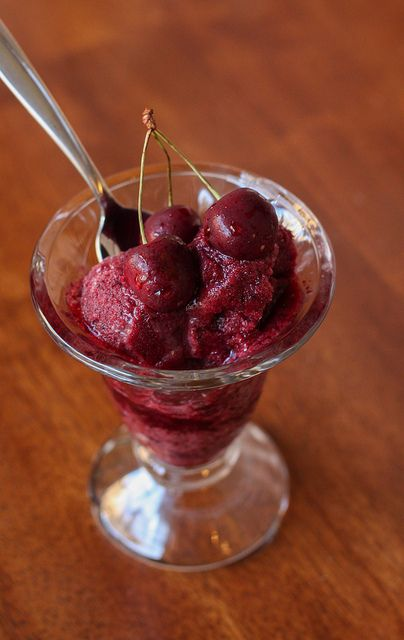 Bing Cherry Sorbet   Ice Cream, Sorbets, and Pops   Pinterest