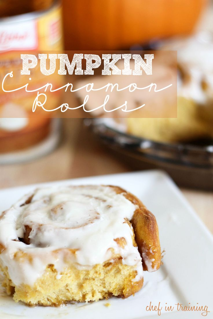 Pumpkin Cinnamon Rolls with Cream Cheese Frosting! These are ooey ...