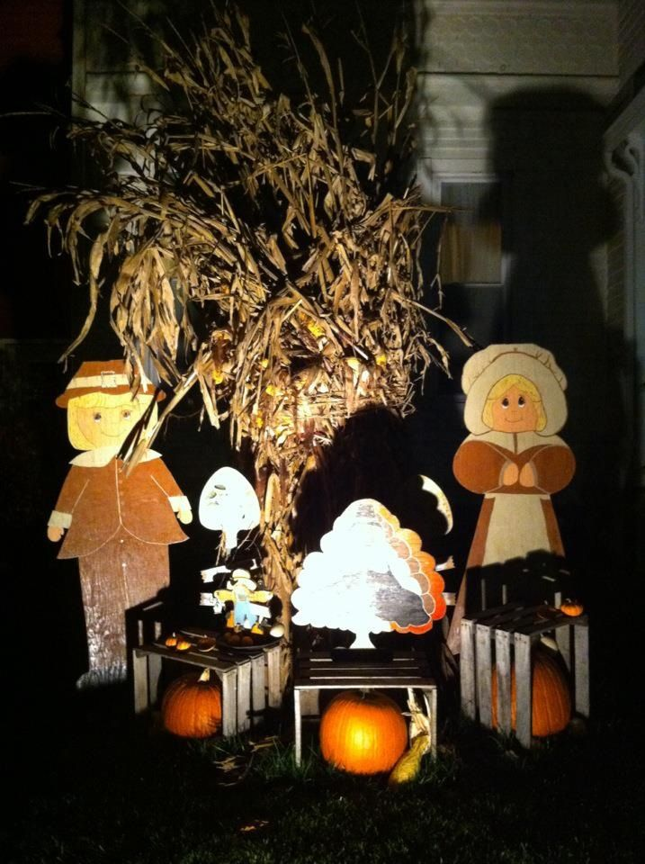 Decorating Ideas > Thanksgiving Yard Decorations  Halloween  Pinterest ~ 042623_Outdoor Thanksgiving Decorations