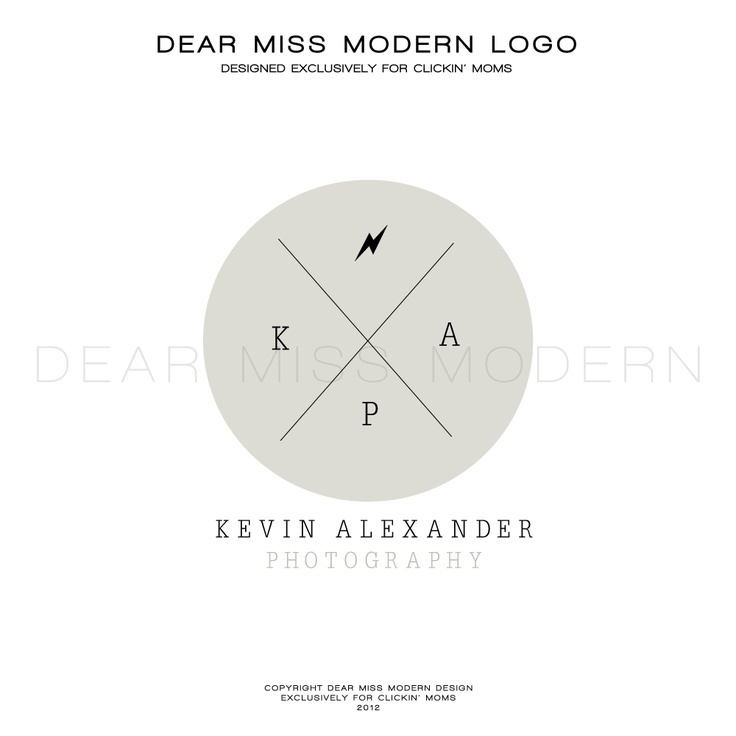 Dear Miss Modern Instant Logos exclusively for Clickin' Moms.  #Logo Design #Dearmissmodern #Clickinmoms  $50.00