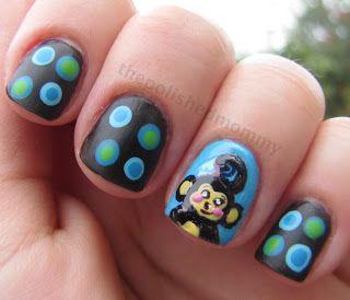 Monkey ... Nail Art Design | summer nail art | Pinterest