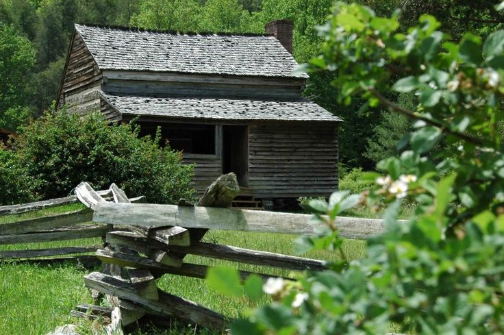 The cabin at Cades Cove: Smokey Mountains, eastern Tennessee