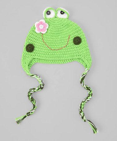 Green Frog Earflap Beanie