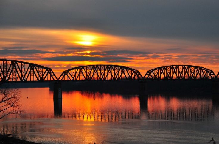 Ohio river sunsets photograph at betterphoto com
