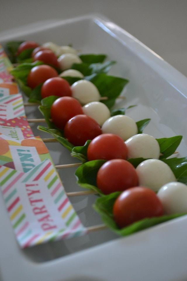Caprese salad skewers | Appetizers, Dips, Salsa's & Party Food | Pint...