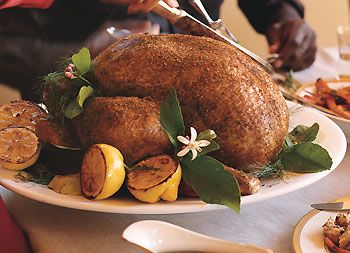 Spice-Rubbed Turkey with Cognac Gravy Recipe | Epicurious.com This is ...