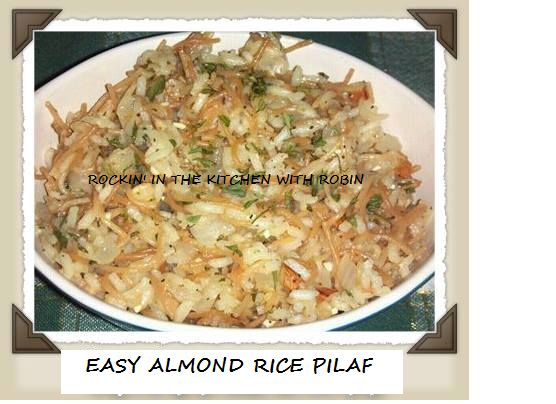 Easy Almond Rice Pilaf | Stuff Your Face | Pinterest
