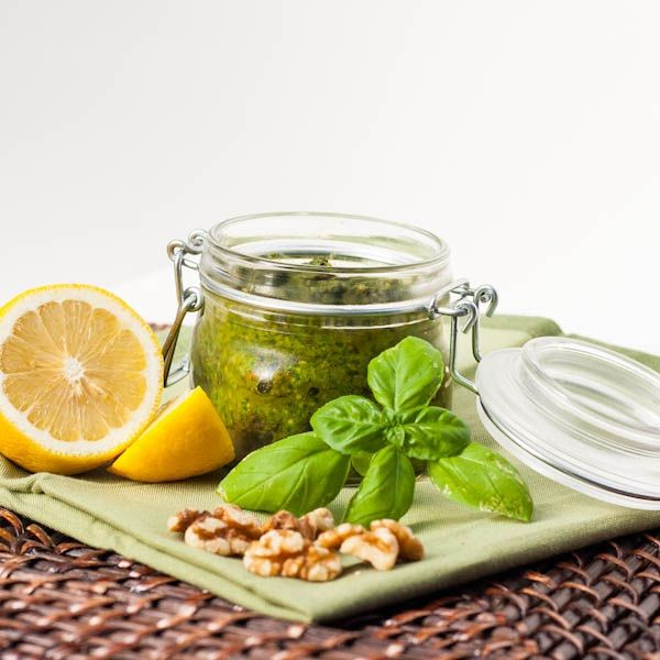 Vegan Basil and Spinach Pesto ½ cup + 1-2 tablespoons extra virgin ...