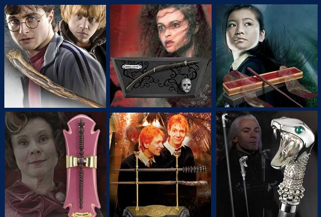 Pictures of almost all the HP wands.
