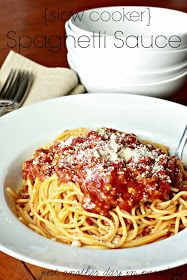Slow cooker spaghetti sauce | Recipes to try | Pinterest