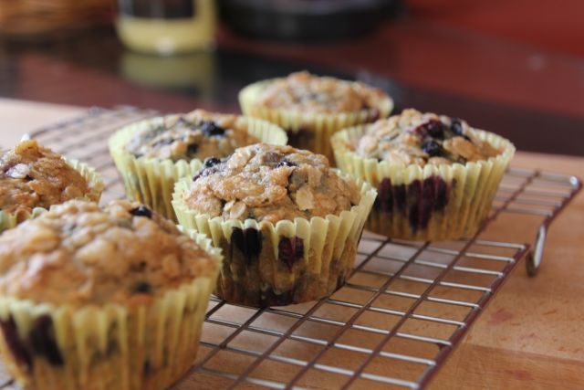 New Nostalgia: Streusel Topped Whole Wheat Blueberry Muffins