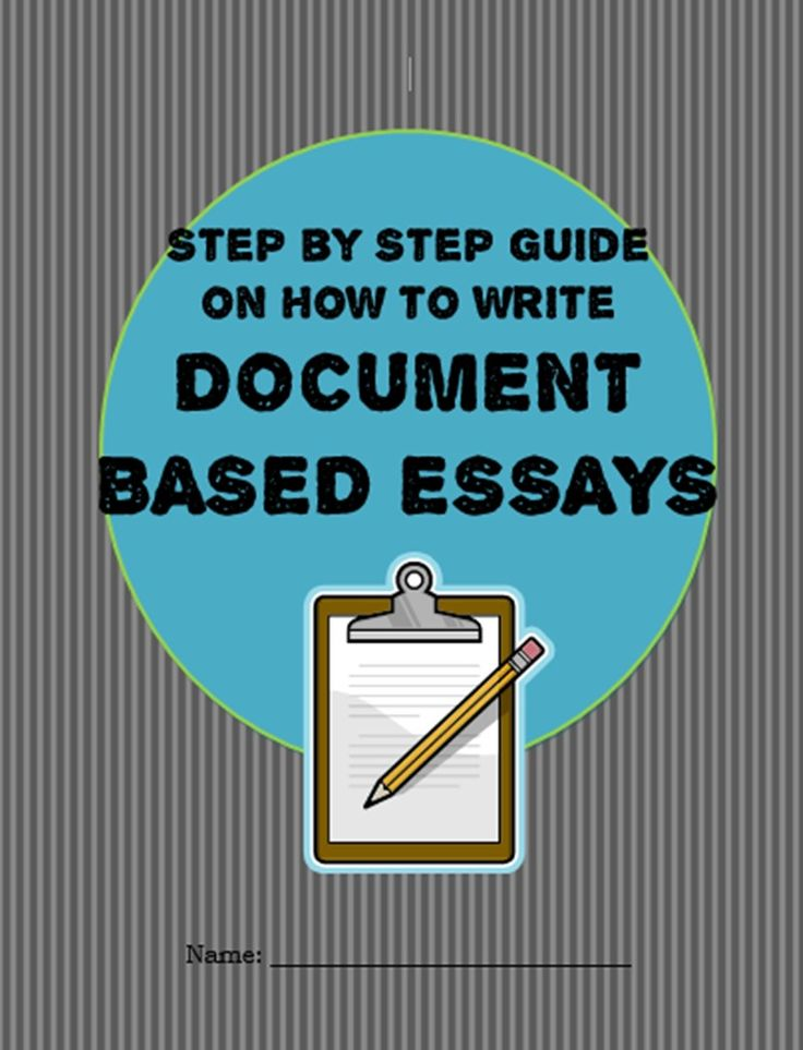 The steps to write an essay