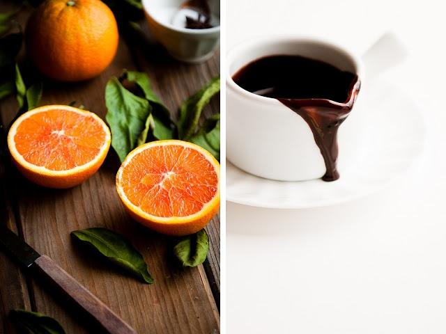 ... : Orange Cinnamon Belgian Waffles with Dark Chocolate Hot Fudge