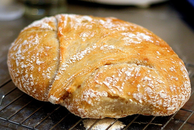Time to try breads?) No-knead bread from Smitten Kitchen
