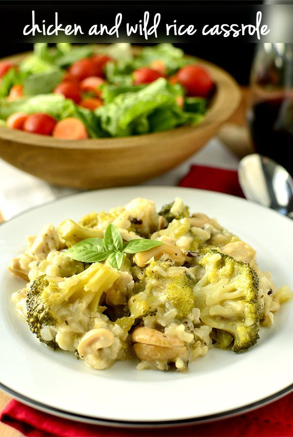 chicken and wild rice casserole | Foo00ood! (Entrees) | Pinterest