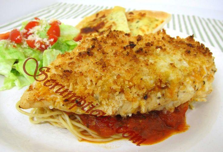 Baked Parmesan Garlic Chicken | Cheesy | Pinterest