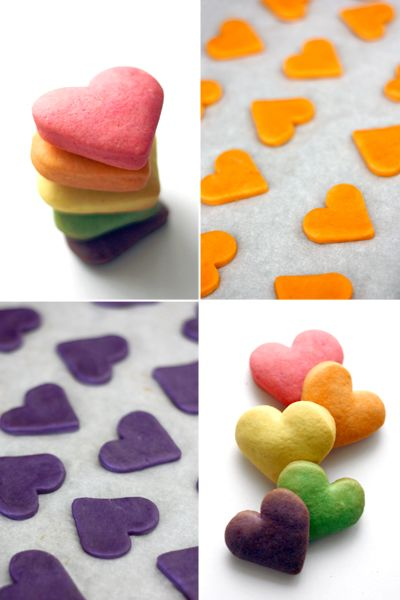 Sweetheart Shortbread...imagine a cellophane bag full of these cuties!