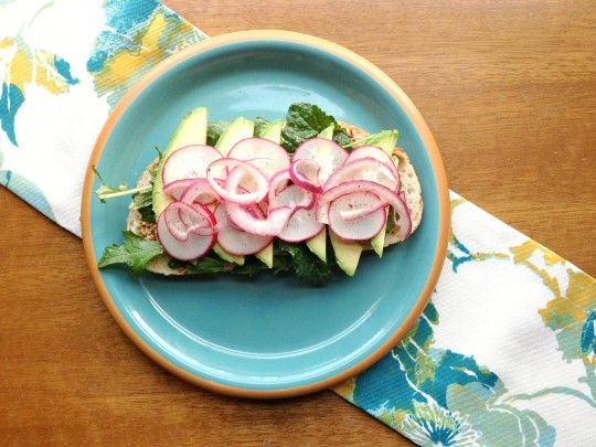 Spring Sandwich with Avocado, Radishes, and Lemony Greens ...